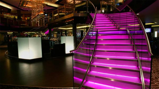 Network Lighting Empire-Casino London Stairs LEDs