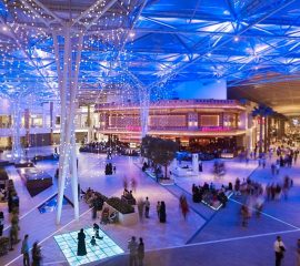 network lighting Kuwait-Grand Avenues Shopping Mall