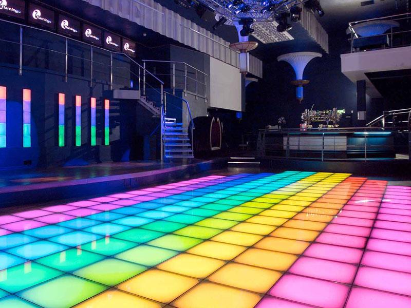Network Lighting Flamingo Bar Disco Floor