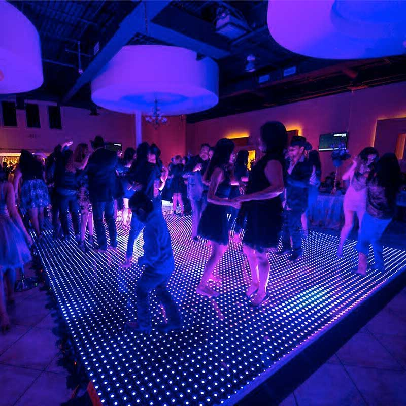 Magnetic LED Dance Floors Network Lighting
