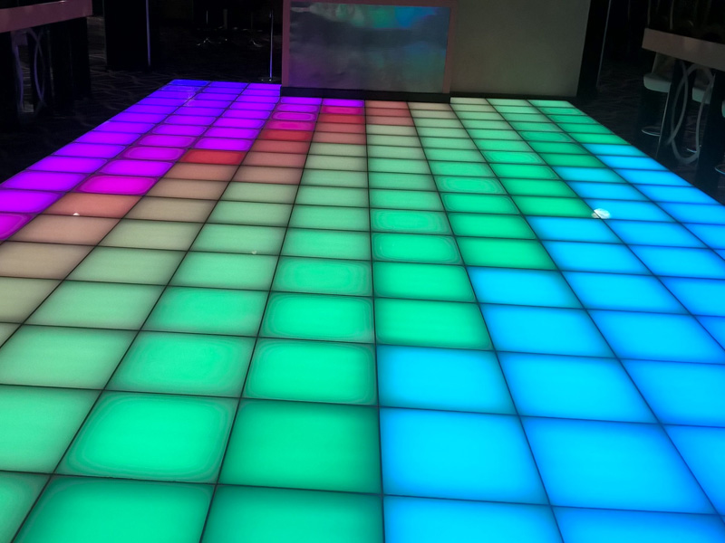 6 On Broad Street Dance Floor Birmingham Network Lighting UK